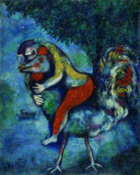 Marc Chagall, Il gallo, 1928