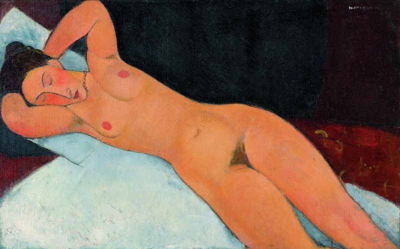 Amedeo Modigliani, Nudo, 1917