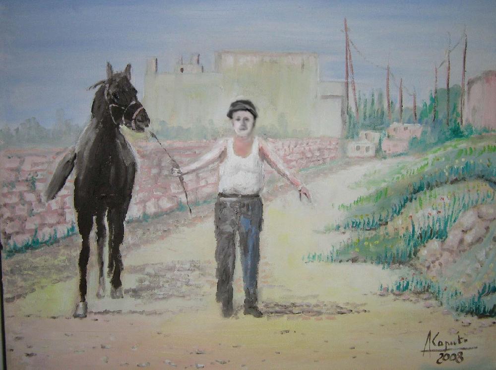 Stattese con cavallo.e cappello