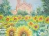 chiesa con girasoli