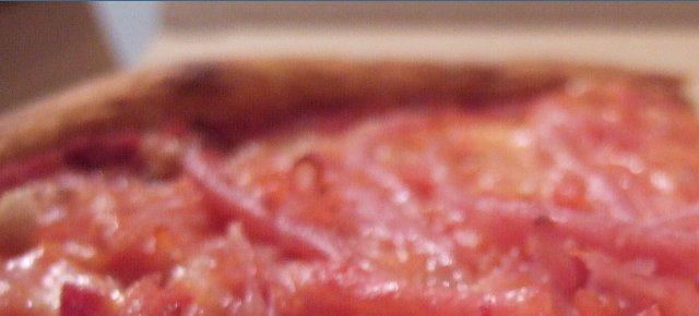 Essen Sie diese Pizza