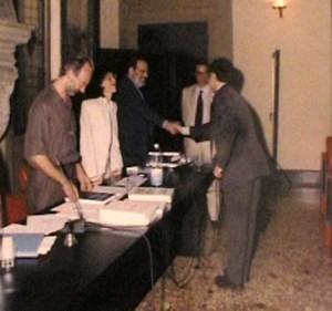 Umberto Eco il giorno della mia laurea