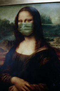 Gioconda con la mascherina
